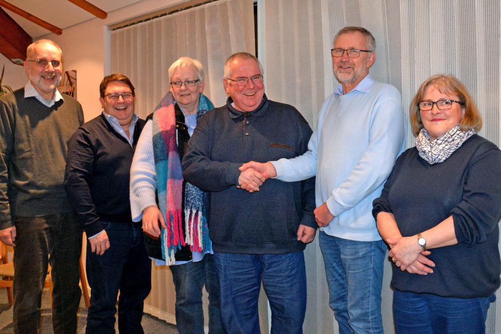 Seniorenbeirat mit Bürgermeister Erichsen nach der Verpflichtung